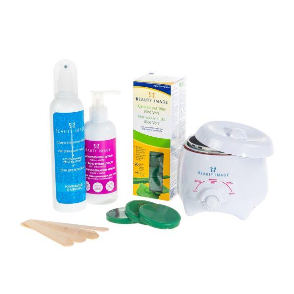 Waxing-Set | Wachserhitzer für Zuhause (Aloe Vera)