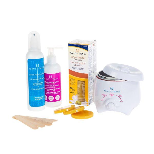 Waxing-Set | Wachserhitzer für Zuhause (Kamille)