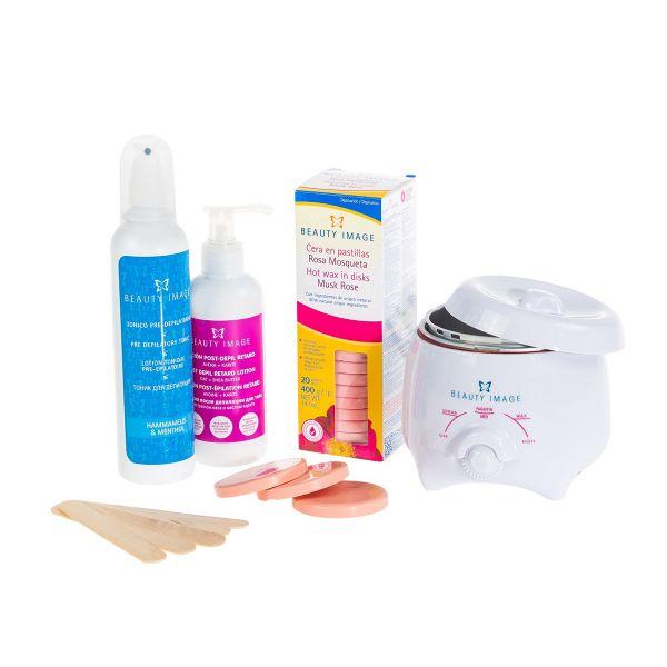 Waxing-Set | Wachserhitzer für Zuhause (Muskat Rose)