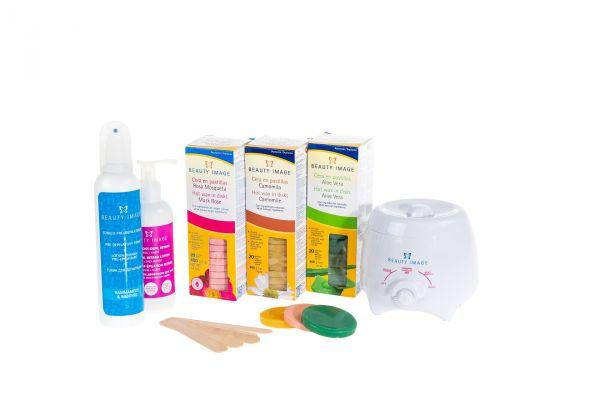 Waxing-Paket | Traditionell (Wachserhitzer + Scheiben)