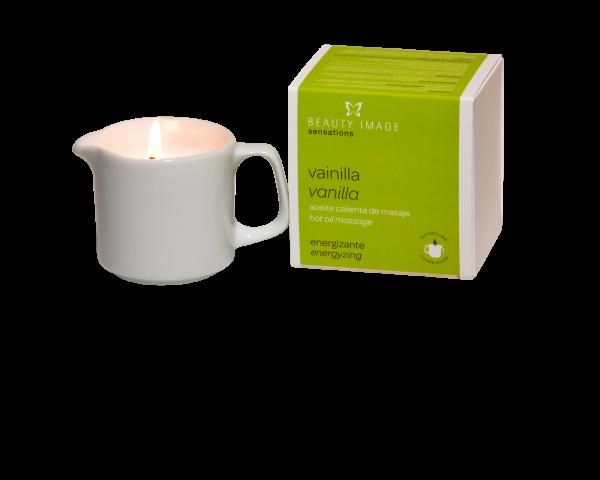 Energiespendende Öl-Massagekerze | Vanille