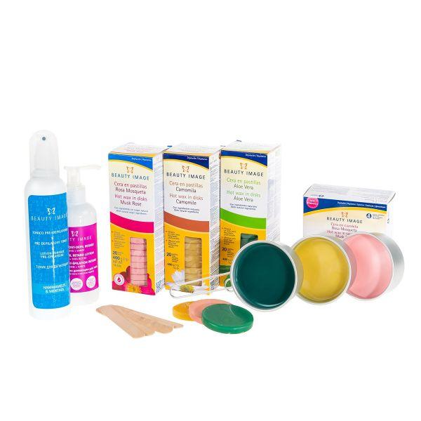 Waxing-Paket | Heißwachs-Töpfchen + Scheiben